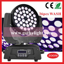 CE RoHS Certificated 10w 4in1 36pcs Zoom Moving Head /Moving Lites