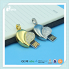 heart shape promotional USB flash drives crystal promotional USB thumb drives
