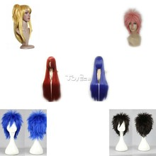 Fairy Tail Anime Wig Cosplay Costume Play Wig (Lucy Heartphilia, Erza Scarlet, Wendy Marvell,Mistogai, Fullbuster, Natsu)
