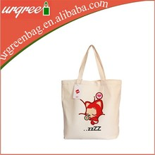 Lovely printing waxed canvas tote bag
