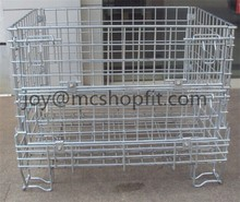 Metal Wire Storage Container,Mesh Feet Cage,Wire Stackable Dump Bin