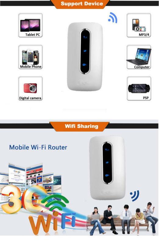 3000mAh power bank 3g wifi router with sim card slot CDMA EVDO 3g router