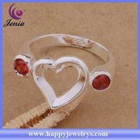 New popular design wholesale price 925 silver ring adjustable plain silver rings AR143