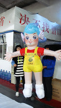 2015 new giant advertising inflatable cartoon girl for spring water