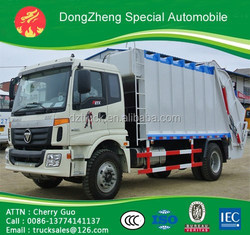4*2 Foton MIni Garbage Truck 6 Wheel Foton Mini Compressed Garbage Truck 151-250HP Foton Mini Garbage Truck