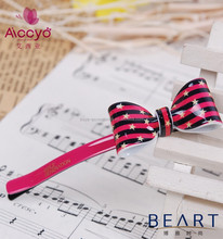 2015 new product for little girls plastic resin bow mini bobby pins