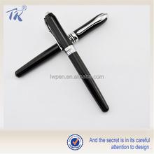 School Supplies Wholesale Designer Ink Pens Black Metal Fountain Pen