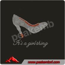 Rhinestone Iron on It's a Girl Thing Transfer High Heel Clothing Decoration