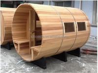 Solid Wood Main Material Outdoor Barrel Wooden Sauna Room for 2-6 peoples