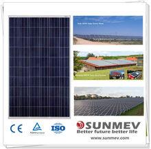 Lightweight 250 watt photovoltaic polycrystaline solar panel with best quality