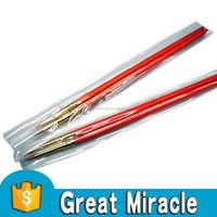 High quality 2pcs per set orange round wooden cheap acrylic nail brush sets