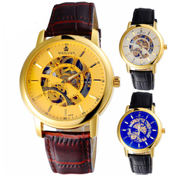 2015 high quality Fashional wrist watch automatic mechanical skeleton watch