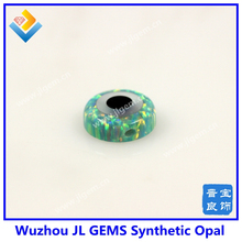op03 moon yellow synthetic evil eye Round Opal Beads for DIY Opal jewelry