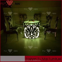 Wholesale wedding/party high bar table and chair used /stainless steel led bar table