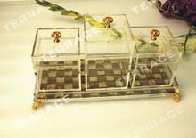 (4pcs/set) Clear Lucite Jewelry Organizer Box,acrylic makeup organizer