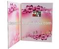 Hecho a mano de la moda artículos 4.3 pulgadas tft lcd 3d tarjeta hecha a mano con 2 gb de memoria