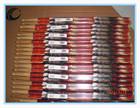 Preço barato boa qualidade colorido personalizado baquetas de nogueira