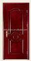 De lujo chapa grano combinación interior puerta de madera