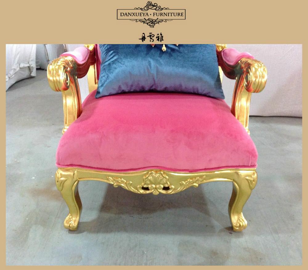 Nice elegant luxury wedding funiture golden carved sofa for Elegant nice sofa