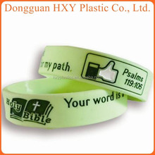 HXY 2015 debossed inkfill factory direct selling as stretch silicone bracelet