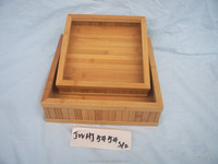2015 new design painting customed wooden trays bamboo tray