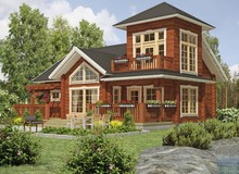 Russian pine wood cabin wood house villa log house in low price