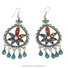 Custom Fashion Colorful Marijuana Earring With HD Pictures