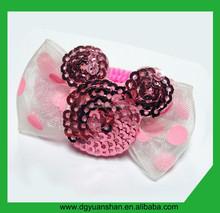 Lovely small bear knotted design hair band for little girl