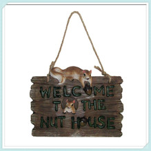 Welcome sign hanging wall plaque garden tree decorative