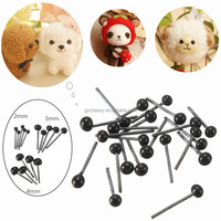 2015 Brand New 150Pairs/Lot Glass Flat Eyes Kit 2/3/4mm For Needle Felting Craft Baby Animals Dolls DIY Accessories