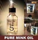 Mink oil, mink óleo essencial, puro óleo essencial