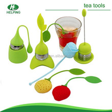 colourful silicone and stainless steel tea infusers