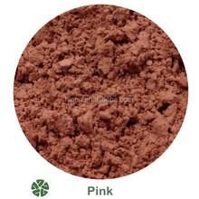 Pink metallic ceramic glaze