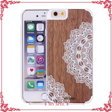 Custom color printing wood case for iphone,wood case for iphone 6
