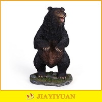 New Product Resin Wholesale Figurine Bear/Resin Black Bear for home decoration