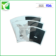 fashion design paper cup fan/blank with flexo printed PE coated paper for cup