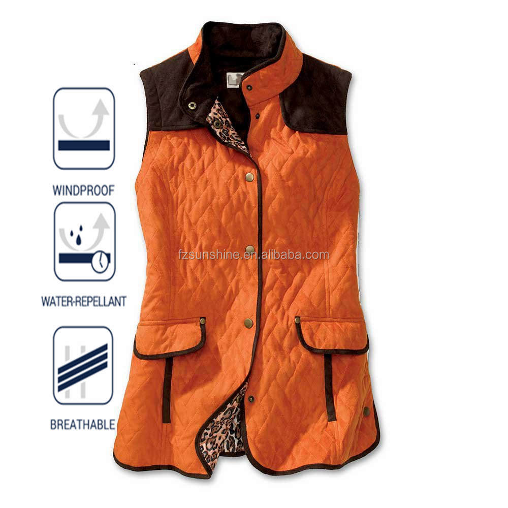 Diamond Pattern Tactical Quilted Orange Hunting Vest Buy Orange