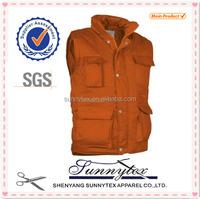 Sunnytex China Hottest multi pocket padded wholesale plain cotton vest
