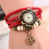 Fashion Womens Dress Watch Vintage Quartz Bracelet Wristwatch Female Clock Best Gift leather women watch