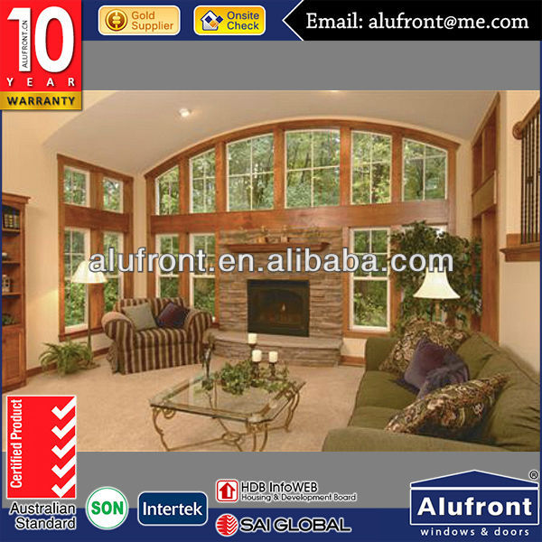 De aluminio revestido de madera ventanas y puertas con puente en arco decorativos ventanas - Arcos decorativos para puertas ...