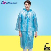 Raincoats Type and Plastic Material Cheap Disposable Raincoat