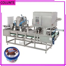 CE proved soft ice cream filling and sealing machine instant ice cream rolls machine