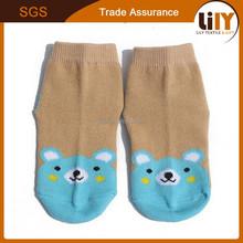 2016 Anti Slip Super Crew Sock Toddlers With Stripes, Plain Socks In Cooton Nylon