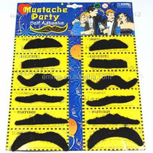 Europe popular funny fake moustache and eyebrow hot sale artificial mustache beard for party favor MU4066