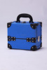 Blue paperboard hand carry cosmetic makeup case,beauty case