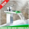 Fashion design color led water water sink led bath faucet
