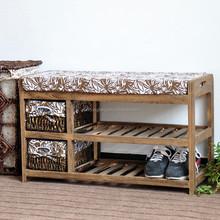 Wooden Shoe Rack Bench