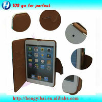 Hot selling and popular Three color PU leather protective case for ipadmini
