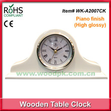 Good selling Piano Finish High Glossy Promotion Gifts, gifts for hotel clock