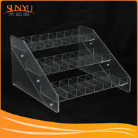 Elegant Craft 3 Tiers Clear Acrylic Store Display Fixture